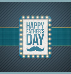 happy fathers day greeting blue banner vector image vector image
