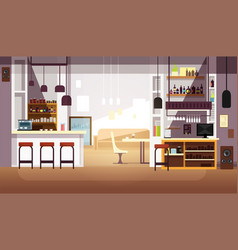 modern empty bar or coffee shop flat vector image