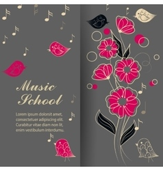 singing birds and flower vector image