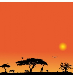 vector background with Africa vector image vector image