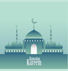 3d mosque design ramadan kareem background vector