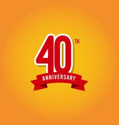 40 years anniversary template design vector