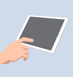 a hand touch tablet - vector image