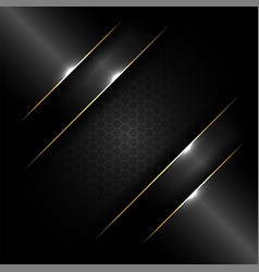 abstract banner design template black glossy with vector image