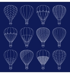 Air Balloons set vector