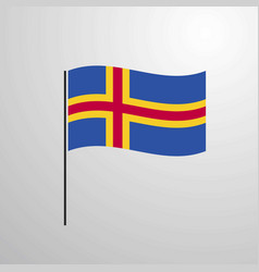 Aland waving flag vector