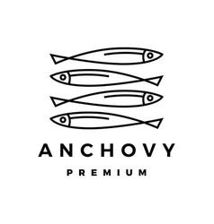 Anchovy logo icon vector