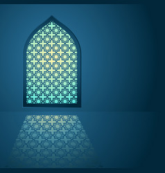 Arabic pattern on mosque window vector