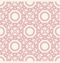 Asian linear geometric pattern vector