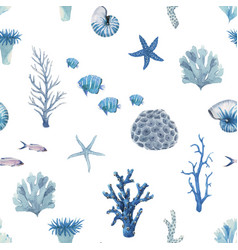 beautiful seamless pattern with underwater vector image