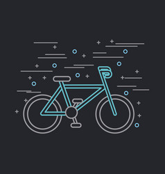 Bike or bicycle poster image vector