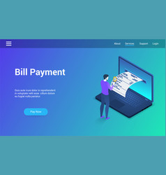 bill payments theme template vector image