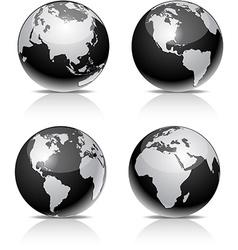 Black Earth balls vector image