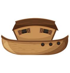 Blank noahs ark cartoon style isolated vector