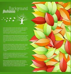 botanical light autumn poster vector image