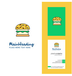 Burger creative logo and business card vertical vector