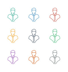 Bust icon white background vector