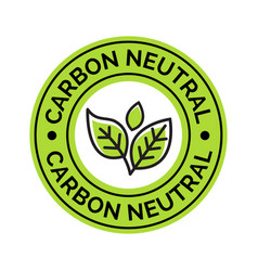 Carbon neutral icon stamp co2 energy monoxide vector