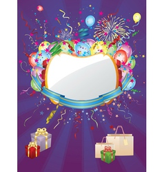 Colorful holiday background vector image