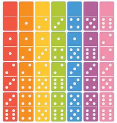 Colourful domino set element vector