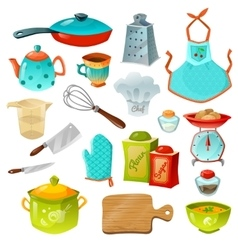 Cooking Decorative Icons Set vector