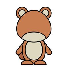 Cute bear woodland icon vector