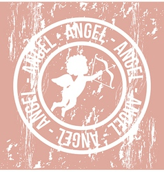 Cute cupid over pink background vector