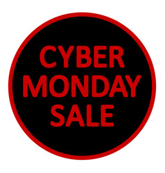 cyber monday sign vector image