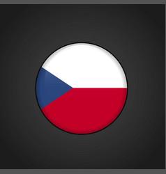 Czech republic flag circle button vector