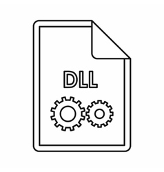 DLL file extension icon icon outline style vector image