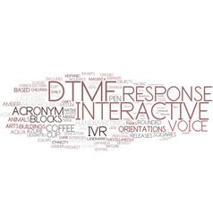 Dtmf word cloud concept vector