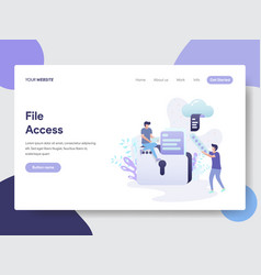 file access concept vector image