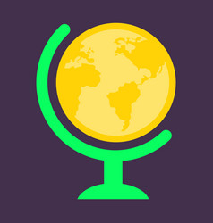 Flat icon of globe vector