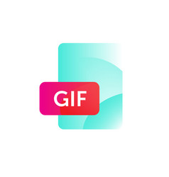 gif format icon gradient flat style bright vector image
