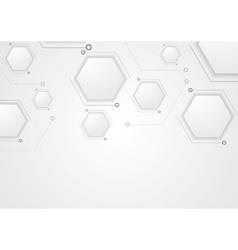Grey corporate tech drawing design vector