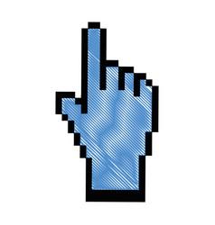 Hand cursor click vector