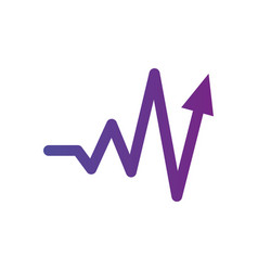 heartbeat sign with arrow up the concept of vector image
