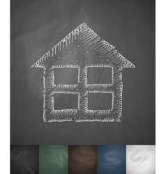 home icon Hand drawn vector image