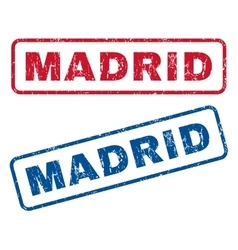 Madrid Rubber Stamps vector image