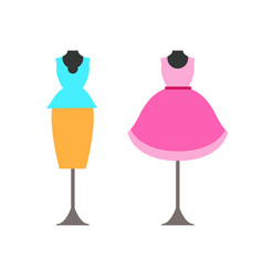 Mannequins with clothing vector