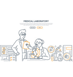 medical laboratory - modern line design style vector image