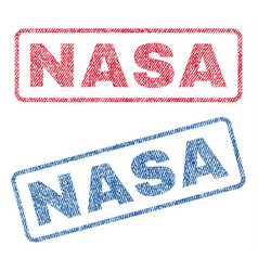 Nasa textile stamps vector