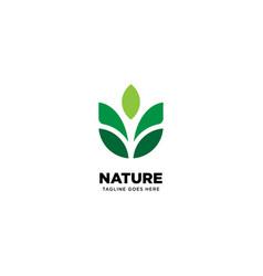 Nature logo template vector