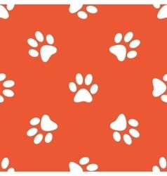 Orange paw pattern vector