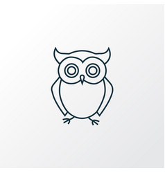 Owl icon line symbol premium quality isolated vector