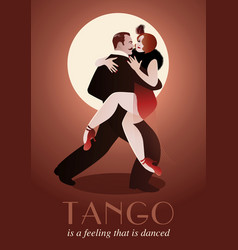 passionate couple dancing tango-01 vector image