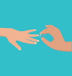 proposal agreement touching moment vector image