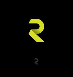 r origami logo r monogram vector image