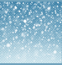 realistic falling snow snow background frost vector image