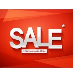 Sale banner template Discount up to 50 vector